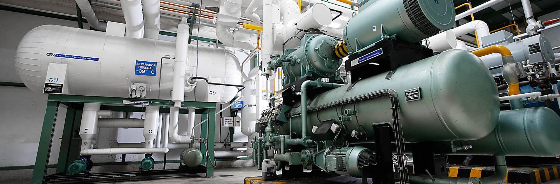 Refrigeración industrial con amoniaco